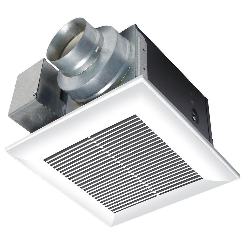 Panasonic Whisperceiling 110 Cfm Ceiling Exhaust Bath Fan Energy Star Fv 11vq5 The Home Depot Bathroom Fan Bath Fan Exhaust Fan