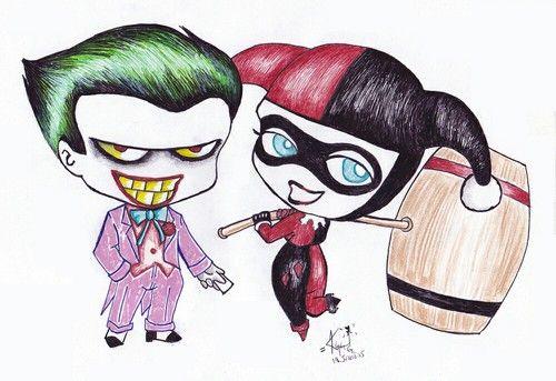 Joker And Harley Quinn Drawing 3 Drawing Cartoon And