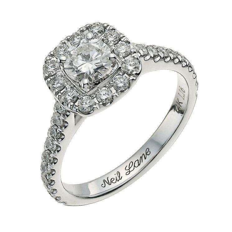 Neil Lane 14ct White Gold 1.16ct Diamond Cluster Ring