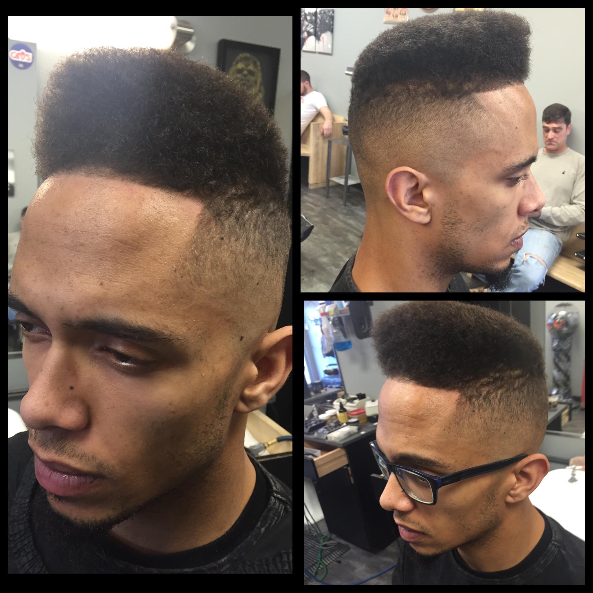 High top Flat Top 90s Hip Hop style fade I did at Ellet Barbershop