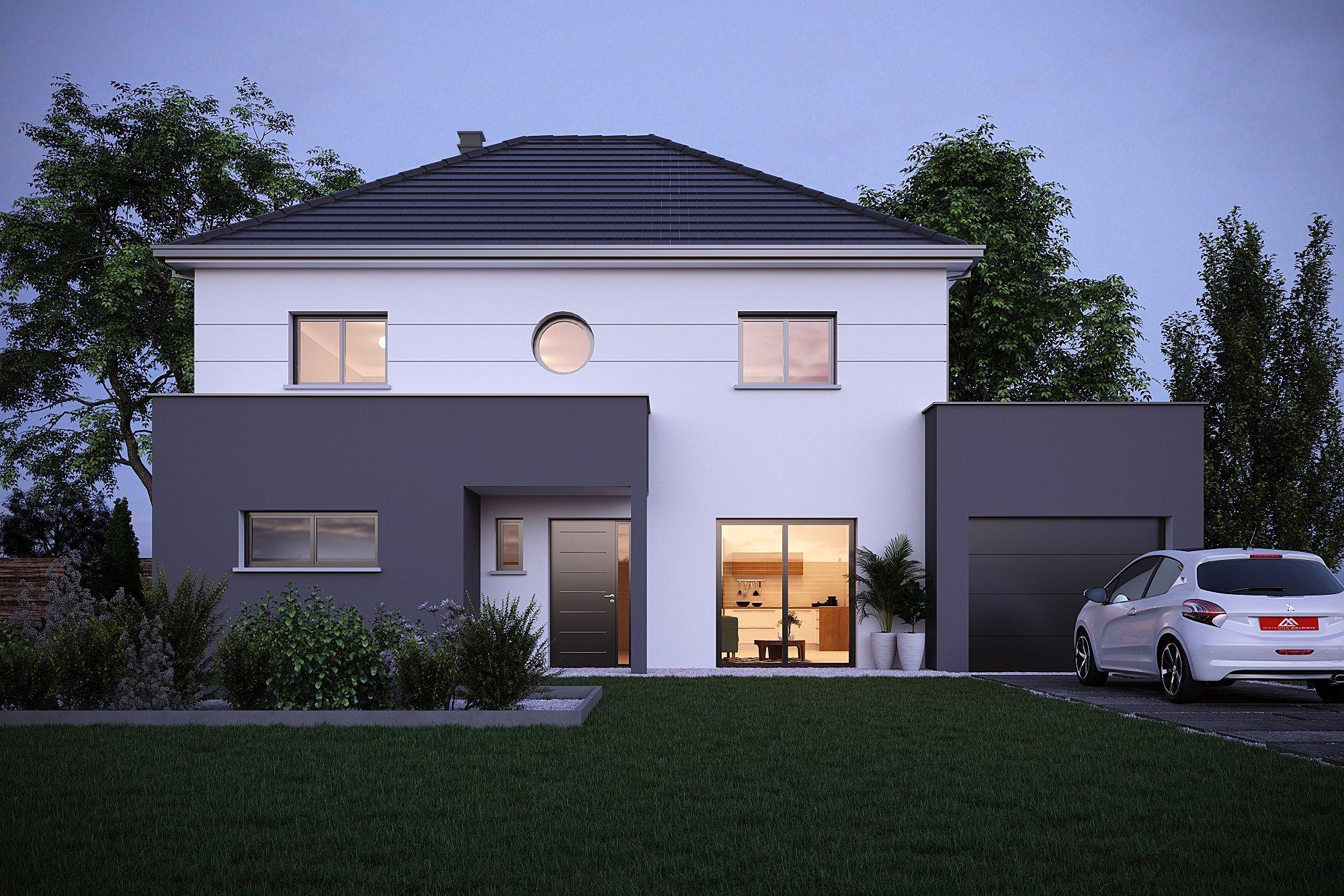 Porche D Entrée Maison Contemporaine Épinglé par busta sur façade maison | façade maison, maison