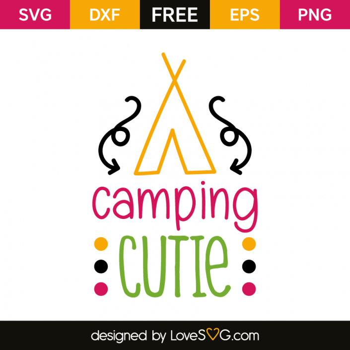 Download Camping Cutie - Lovesvg.com   Cricut projects beginner ...