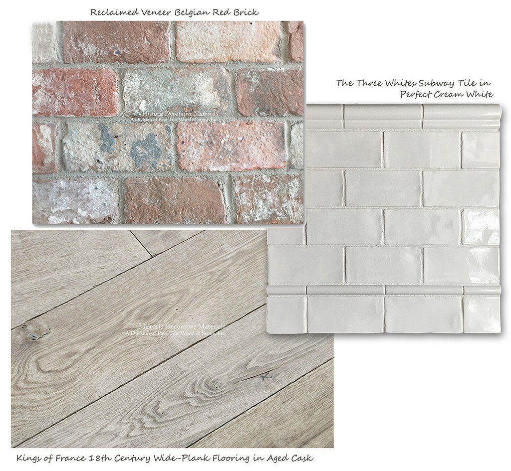 Reclaimed veneer belgian brick with aged french oak floors and reclaimed veneer belgian brick with aged french oak floors and subway tile dailygadgetfo Images