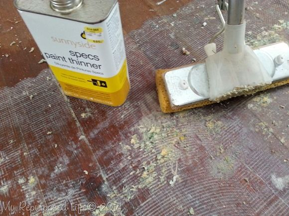 Mop On Paint Thinner To Remove Carpet Adhesive