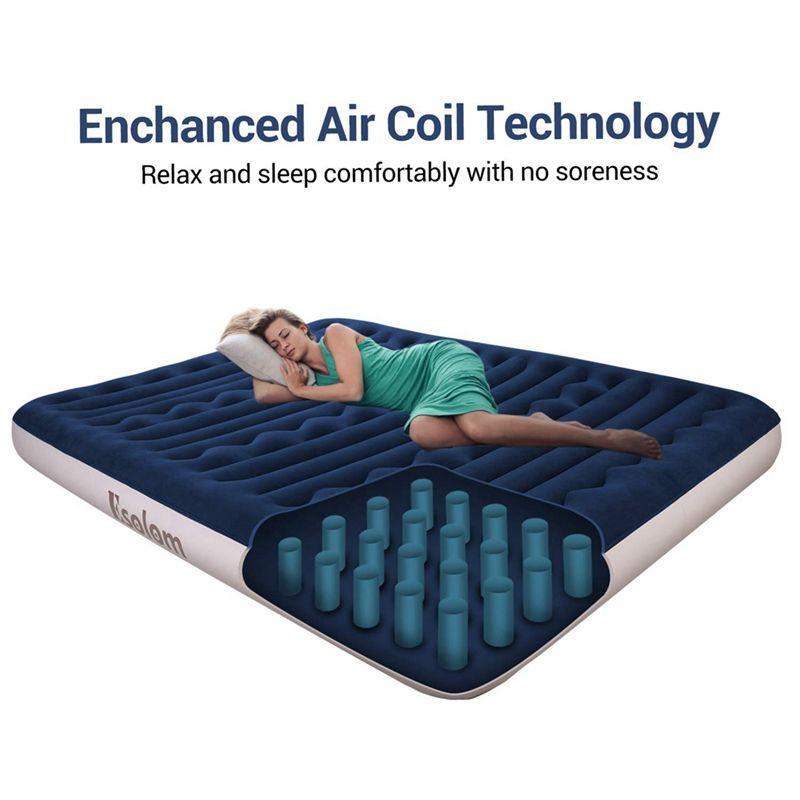 Queen Air Mattress Inflatable Mattress Twin Blow Up Mattress With Air Bed Pump Ad Mattress Paid Inflatable In 2020 Camping Pillows Air Mattress Camping Air Bed