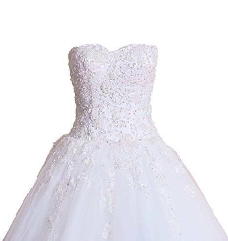justbridal ivory strapless cathedral train lace wedding