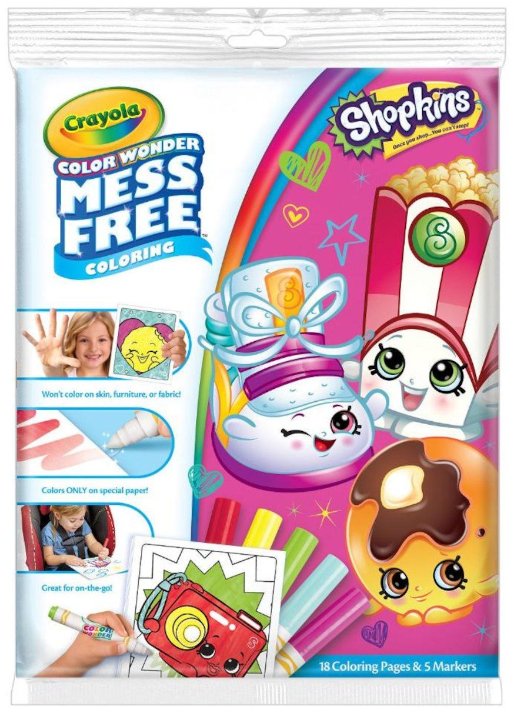 Crayola Mess Free Color Wonder Coloring Shopkins Color Wonder Shopkins Colouring Book Kids Stationery
