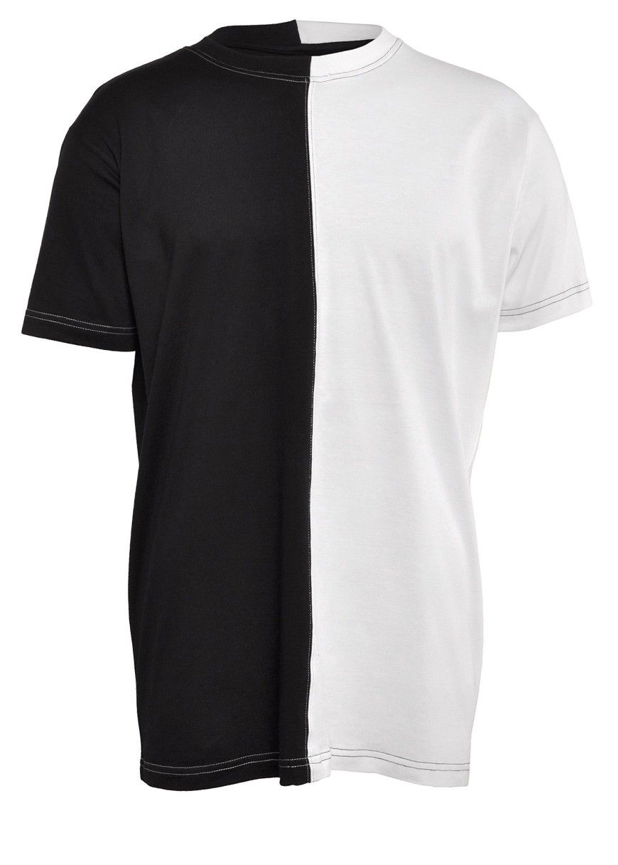 Long Clothing 2 Tone T-Shirt Black / White - Basic T-Shirts ...