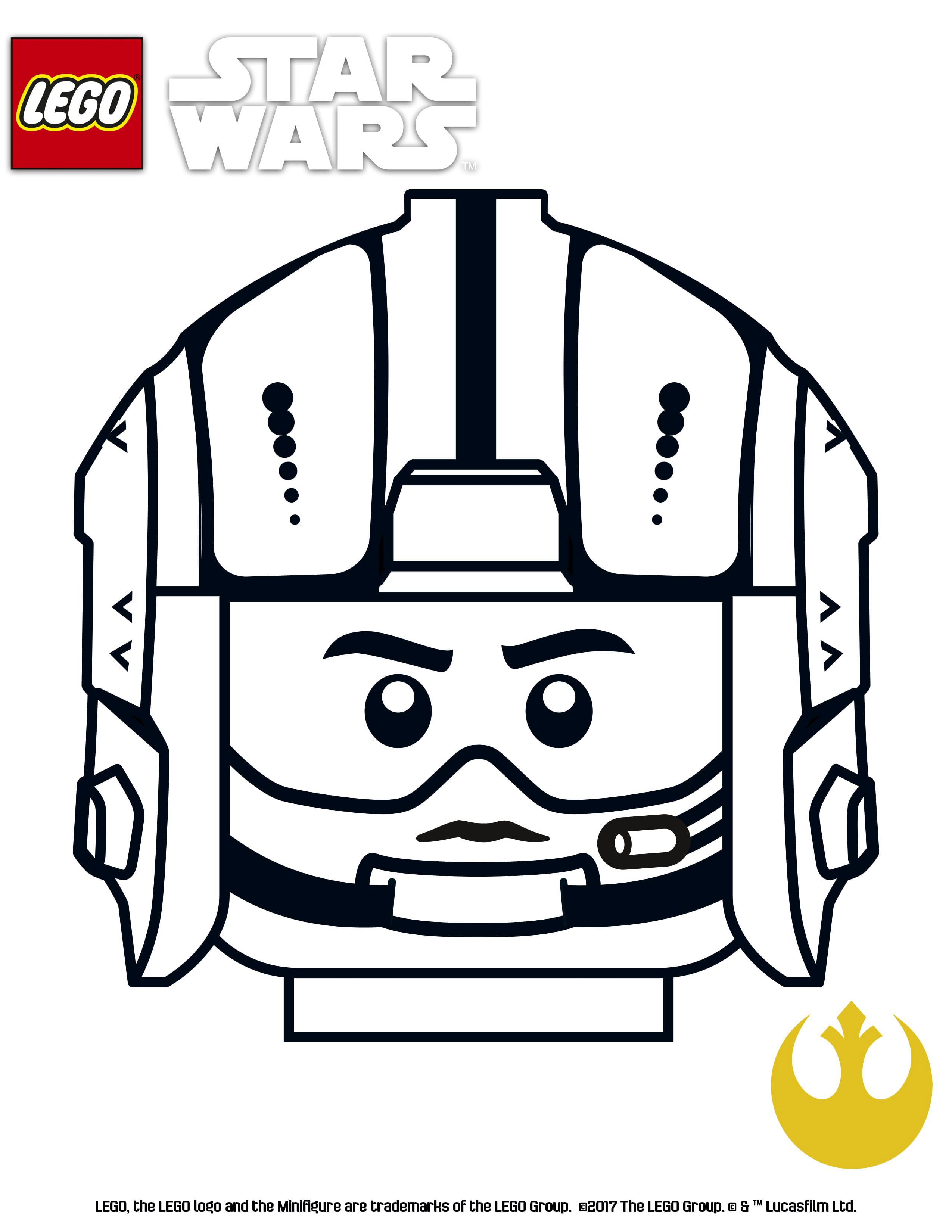 Lego Star Wars Coloring Pages Gold Suadron Lego Star Wars