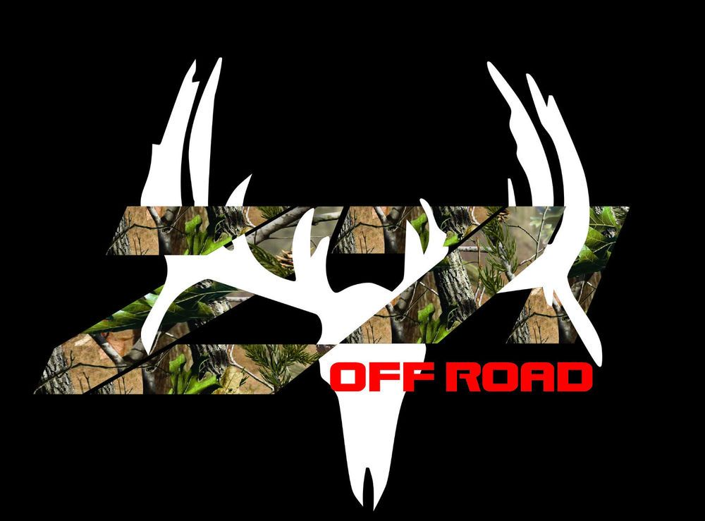 Fits Z71 Chevy Truck 4x4 Off Road Camo With White Deer Decal