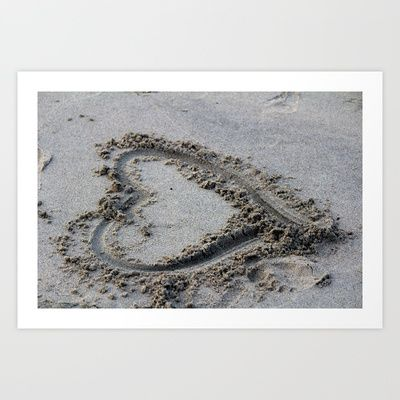 Love in the sand Art Print by PSdecor - $15.00