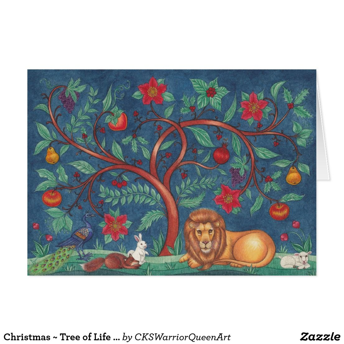 Christmas Tree Of Life Greeting Cards Custom Christmas Greetings