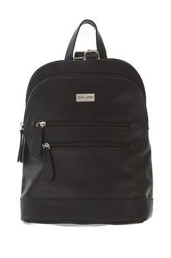 This Black Laura Jones Twin Zip Backpack Handbag Item Code 3166248