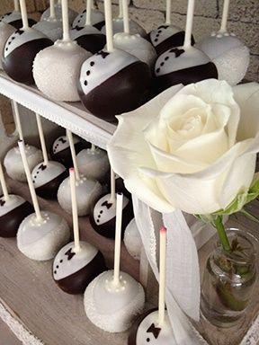 Wedding Cake Pops In Tiers