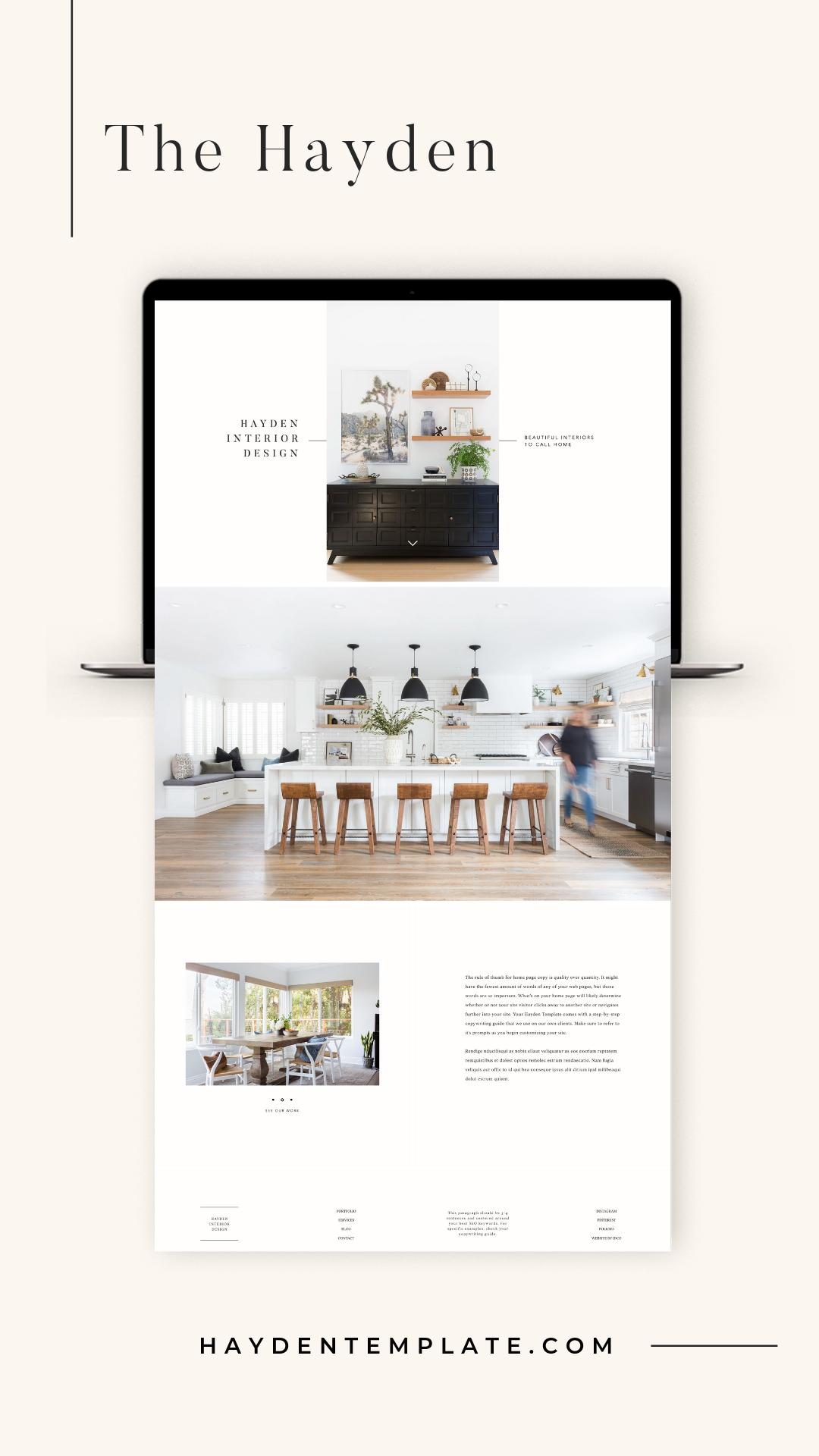 Meet The Hayden Beautiful Minimal Web Design Template For