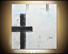 ORIGINAL MODERN FINE ART BLACK WHITE ABSTRACT CONTEMPORARY...