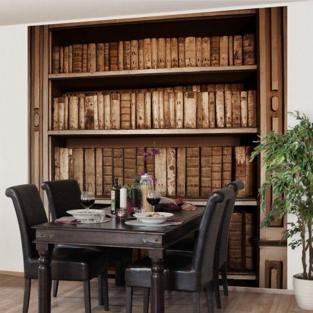 tapete holzoptik altes archiv vlies fototapete premium quadrat holz tapete natur pur. Black Bedroom Furniture Sets. Home Design Ideas