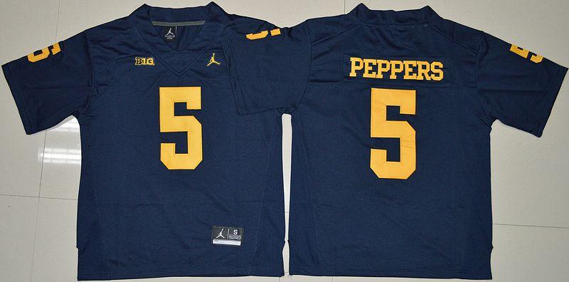 quality design 3d6c9 92802 Jordan Brand Michigan Wolverines Jabrill Peppers 5 College ...