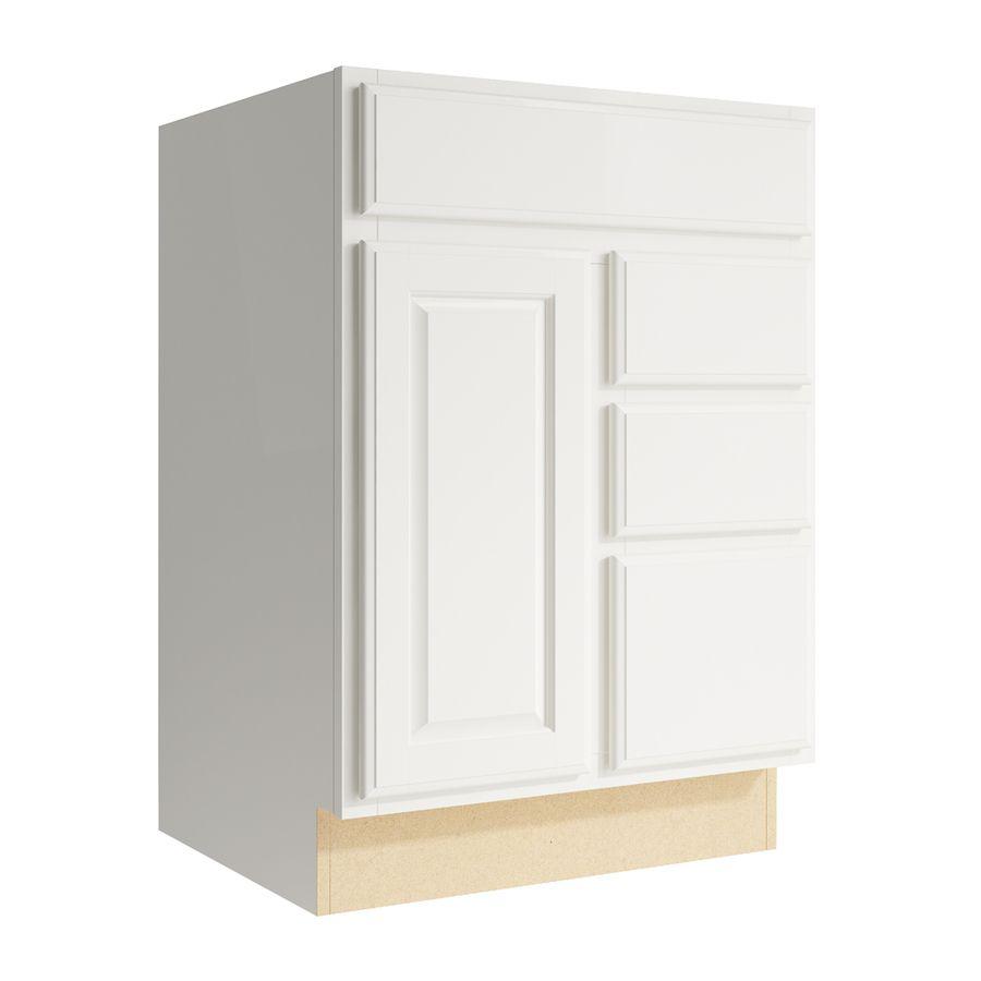 Kraftmaid Momentum Settler 24 In Cotton Bathroom Vanity Cabinet Vcd242134dr3 D5 F1 In 2020