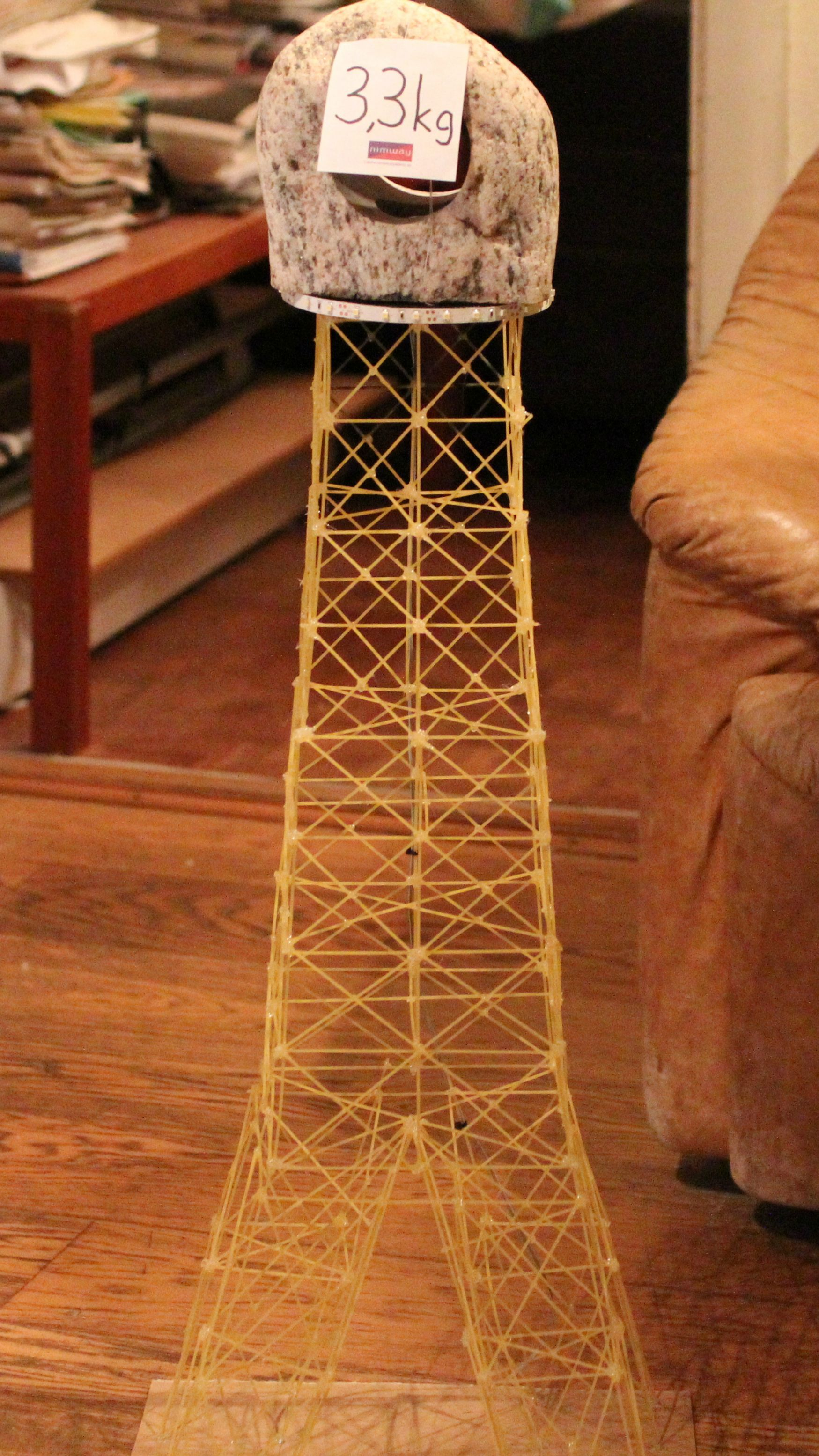 Structural Integrity Of A Spaghetti Eiffel Tower Tower