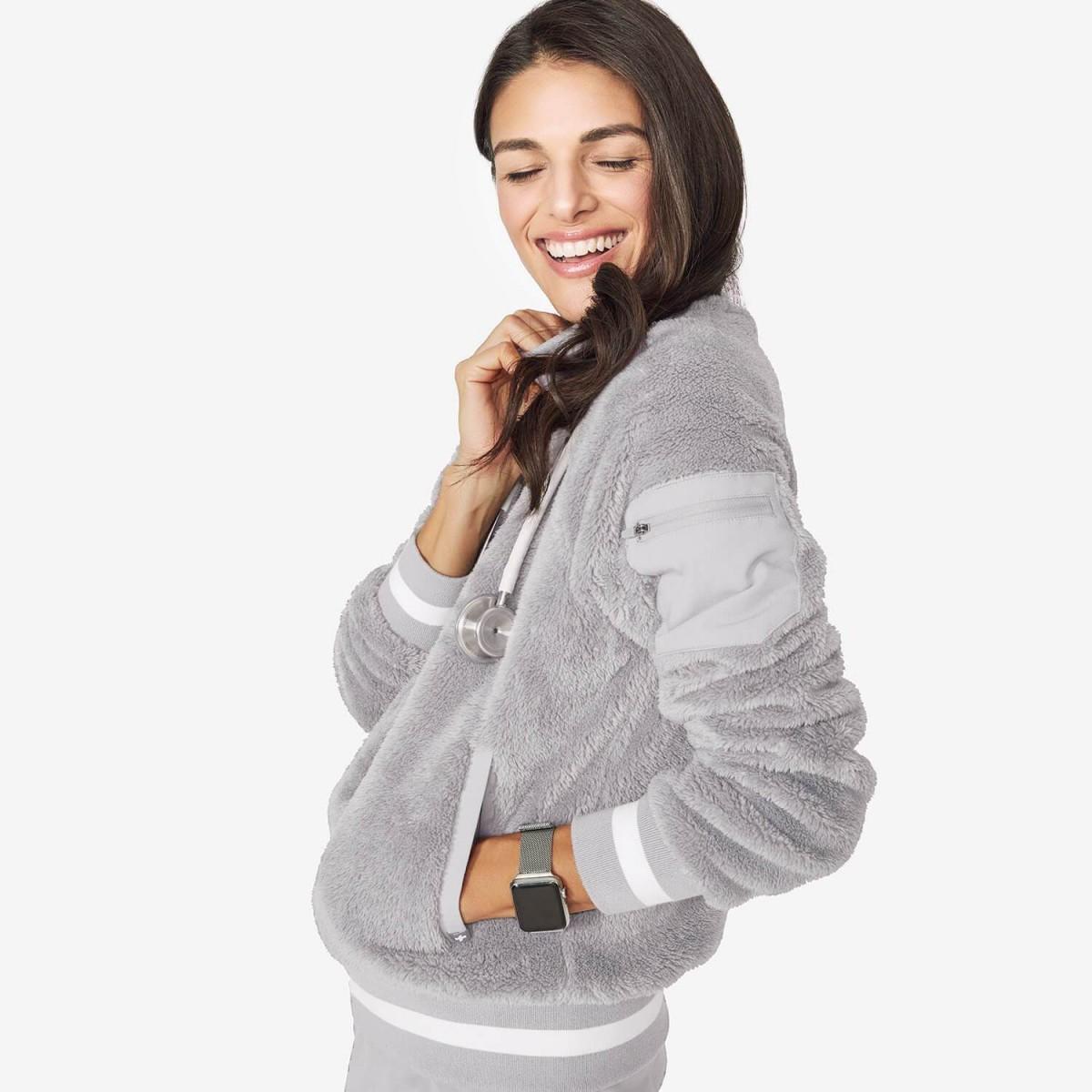 Womens Bafia Sherpa Fleece Bomber Women Bomber Fashion [ 1200 x 1200 Pixel ]