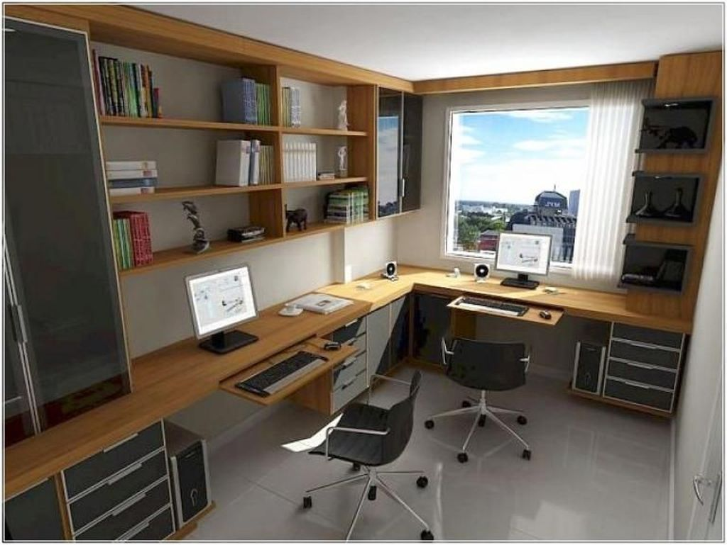 20 Home Office Ideas Modern Style And Comfortable Pandriva Home Office Design Home Office Layouts Small Home Offices