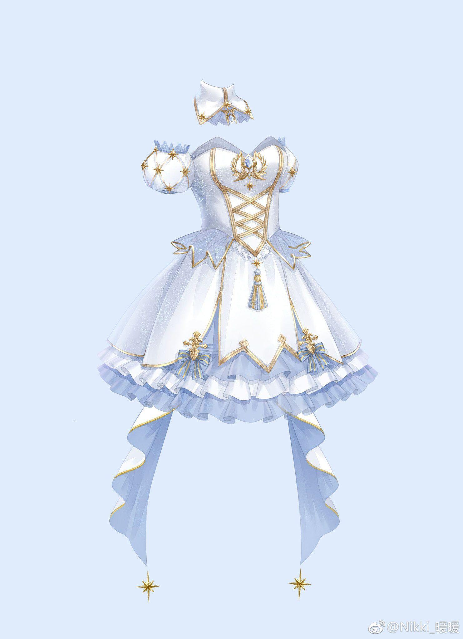 Twitter Manga Clothes Anime Dress Fashion Design Sketches