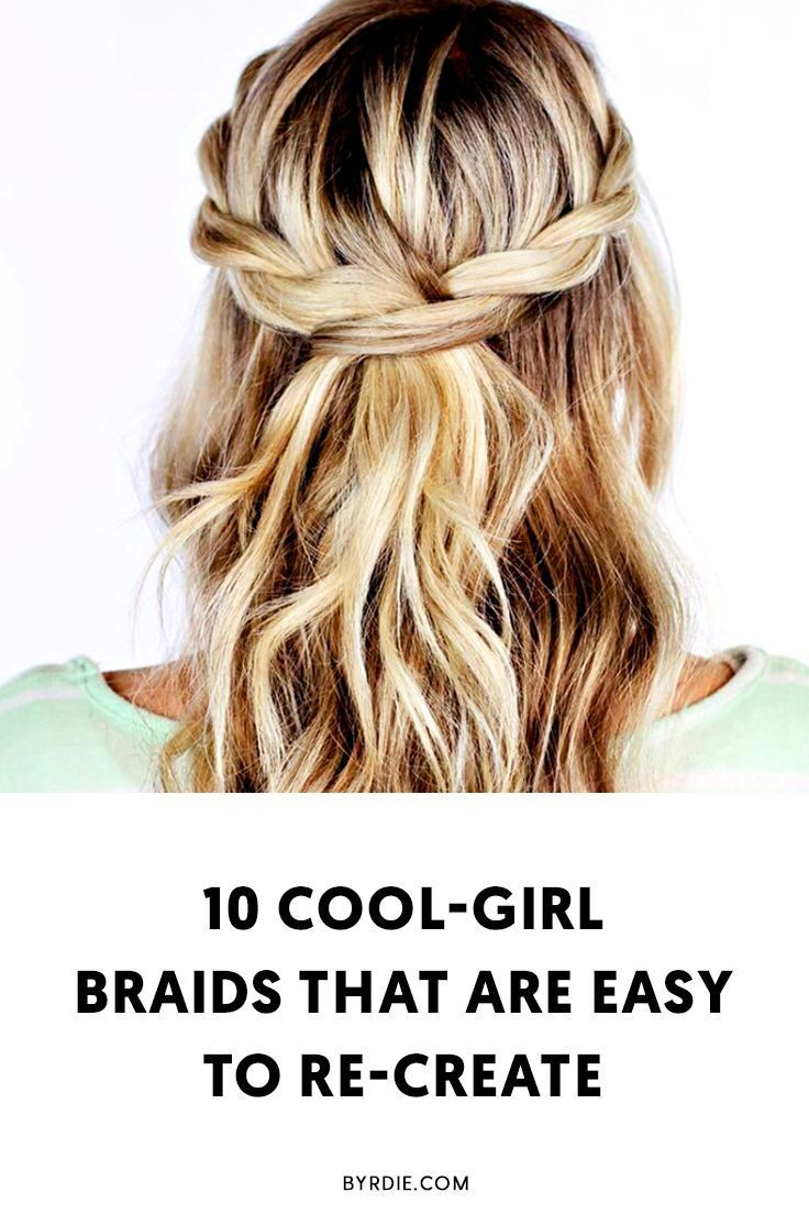 Easy braid hairstyles braided hairstyles pinterest braids