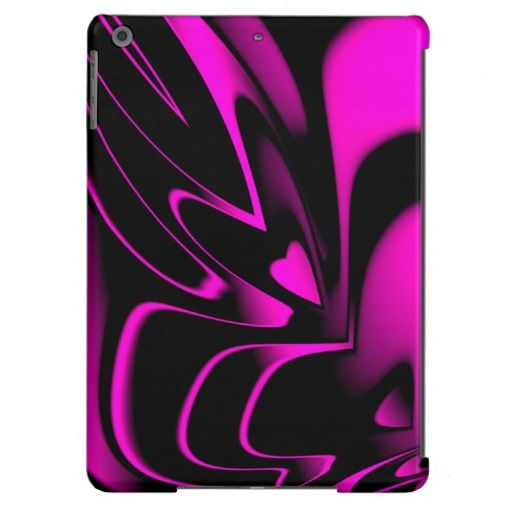 Crazy Abstract HOT Pink Heart Shaped iPad Air case