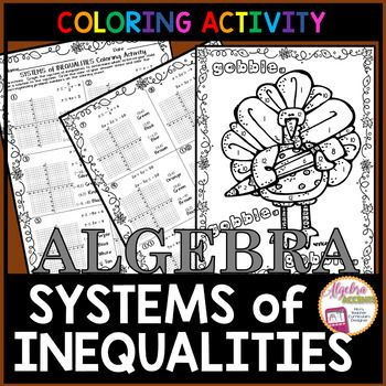 Graphing Systems Of Linear Inequalities Coloring Activity Standard