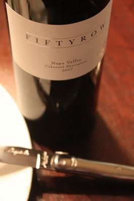 Cabernet Marinated Steak with Gorgonzola, Bacon and Shallot Butter Paired with Fiftyrow Cabernet.$49