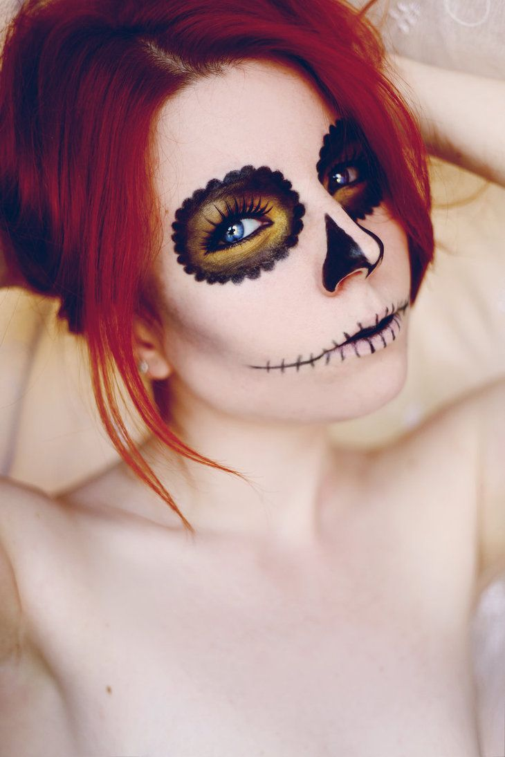 DIY Halloween Sugar Skull Costume – A little black dress ...