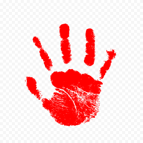 Hd Red Handprint Right Hand Png Png Red Right Hand
