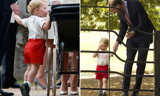 Prince George keeps a brotherly eye on Charlotte