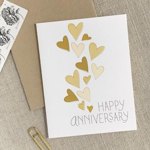 Pin On Anniversary Cards Modern