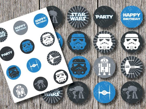 Star Wars Birthday Cupcake Toppers Star Wars Pinterest