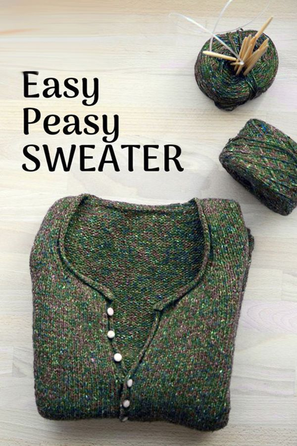 Photo of Simple Quick Easy Knit Pullover Sweater – Free Pattern