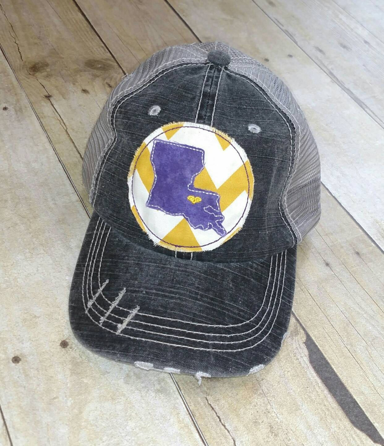 Baton rouge louisiana state home embroidered raggy patch