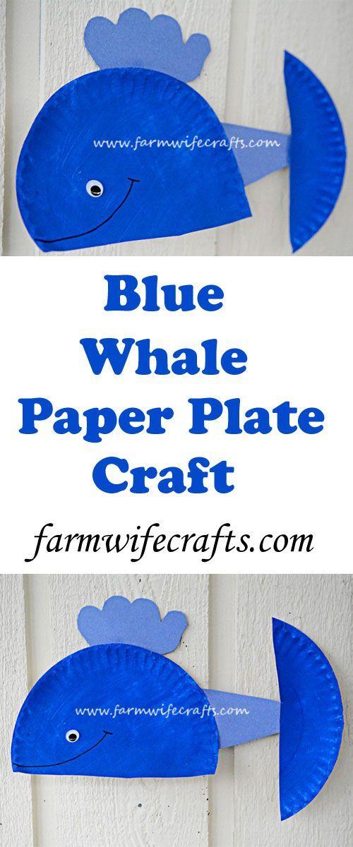 Blue Whale Paper Plate Craft  sc 1 st  Pinterest & Blue Whale Paper Plate Craft   Recipe   Paper plate crafts Ocean ...