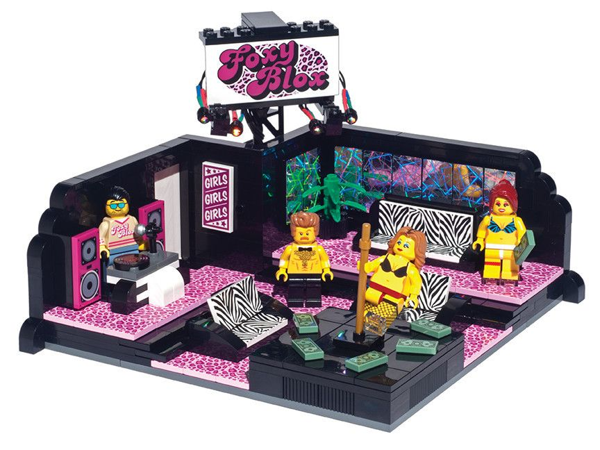 Yes, you can actually buy this Lego strip club | Custom lego, Lego ...
