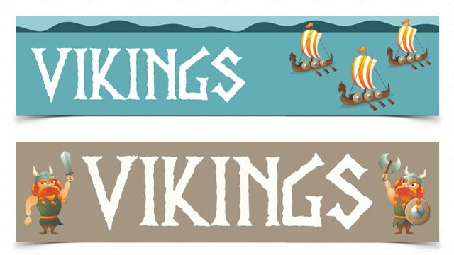 PaperZip Teaching Resources » Viking Banners   School   Pinterest ...