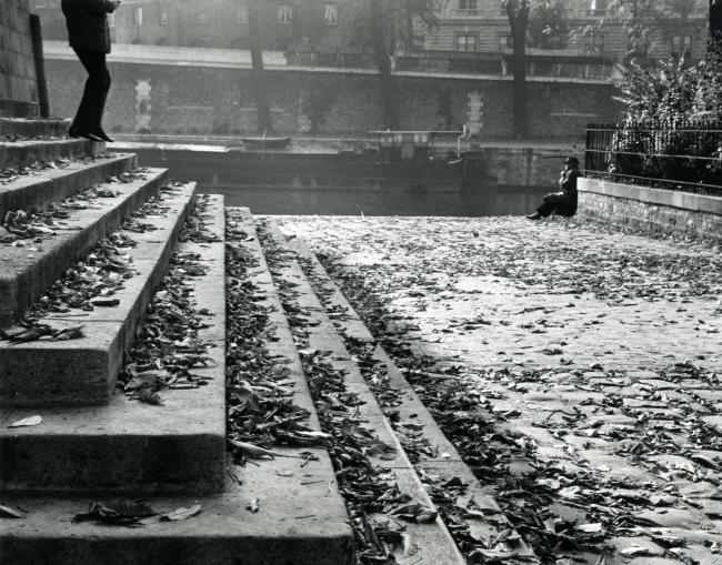 André Kertész, fotógrafo húngaro (1894-1985): Paris, Vert Galant on a Fall Afternoon, 1963