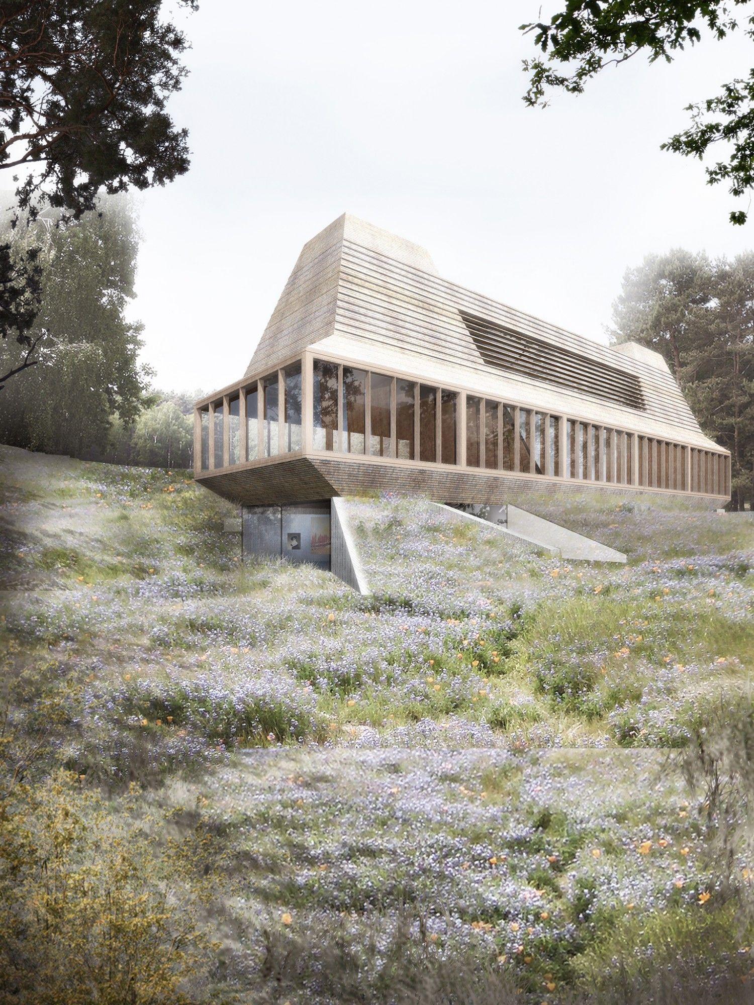 Minimalistische architektur wiener wald von thomas for Minimalismus architektur