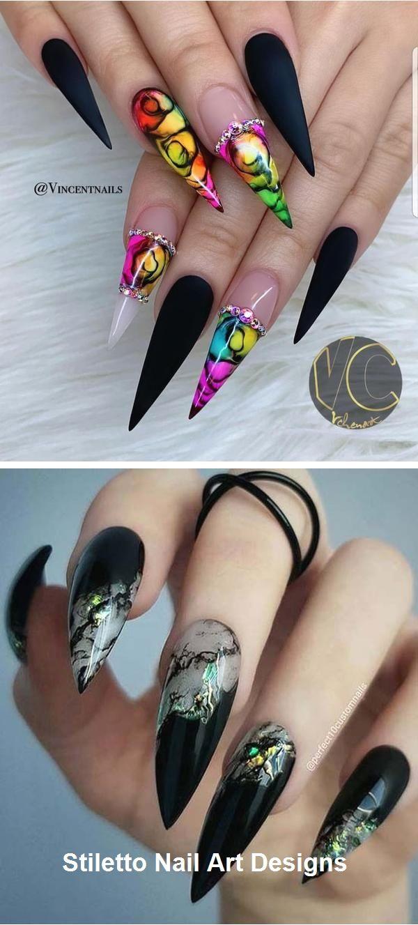 30 Great Stiletto Nail Art Design Ideas Naildesign Nailart
