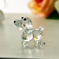Authentic Crystal Glass Dog Figurine Paperweight Wedding...