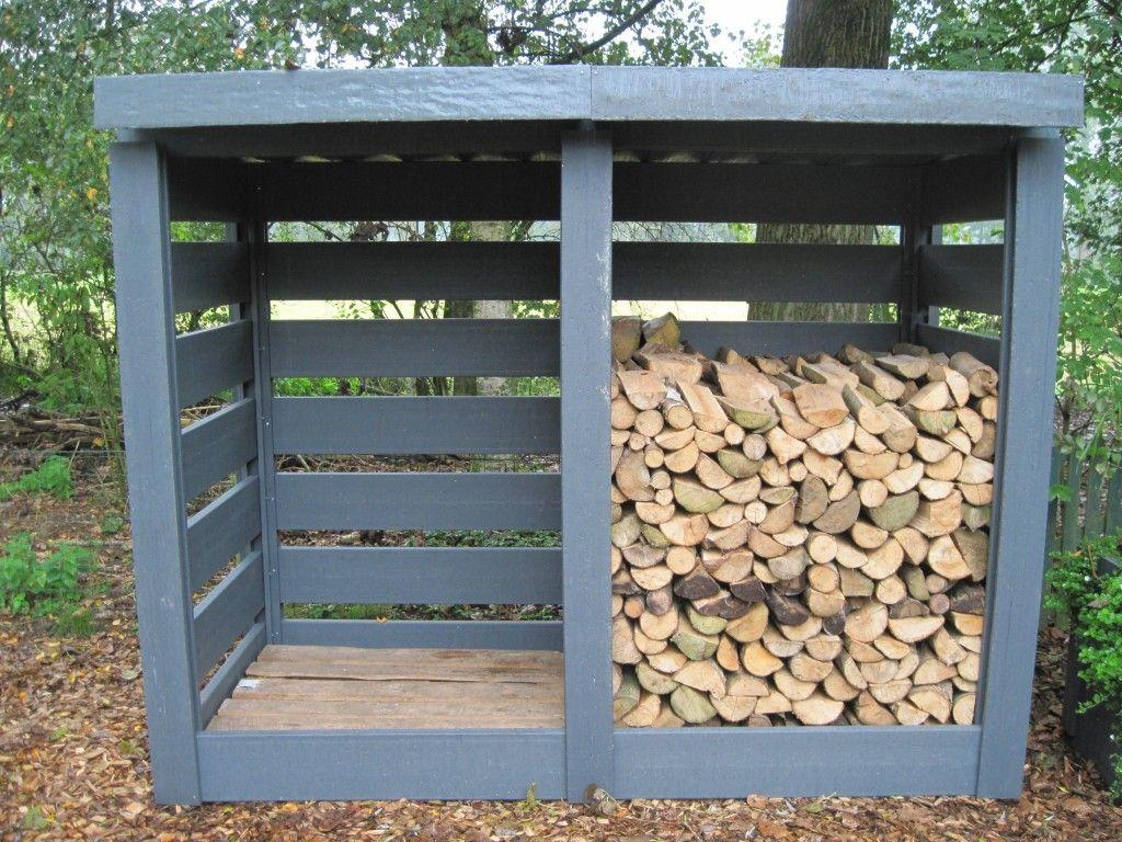 diy firewood rack using pallets