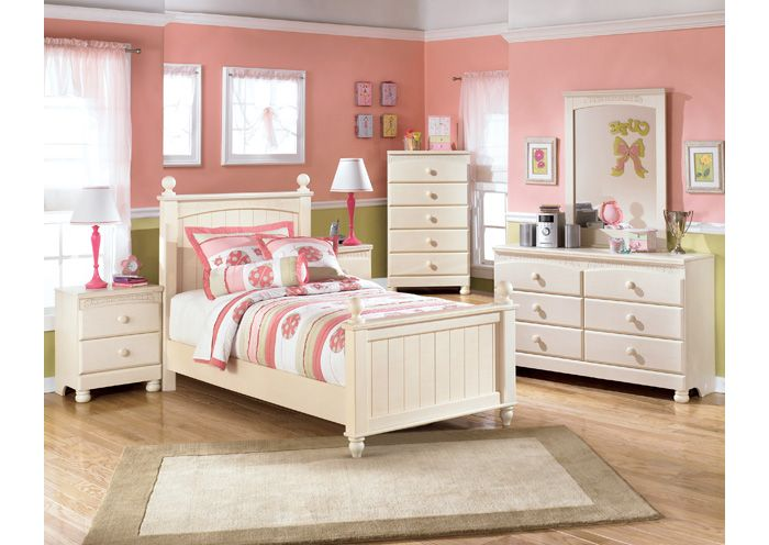 Ramos Furniture Cottage Retreat Full Poster Bed, Dresser, Mirror ...