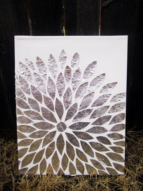 diy foil art step by step instructions fun easy art work