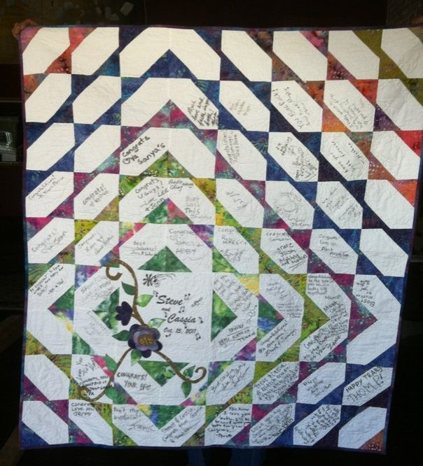 Signature quilts are a very nice to have your wedding guest sign so you will always have the ...