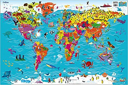 Collins childrens world map amazon collins maps steve collins childrens world map amazon collins maps steve evans gumiabroncs Images